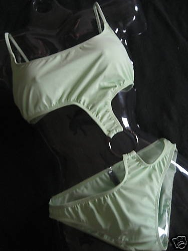 NEW VICTORIA SECRET SPEEDO PLATINUM RING MONOKINI 10