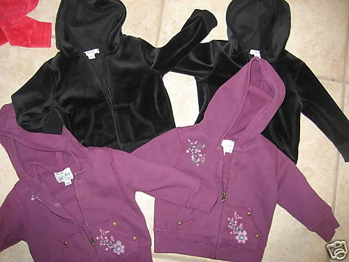 OLD NAVY TWINS GIRLS COATS HOODIE JACKETS 12-18 MO LOT