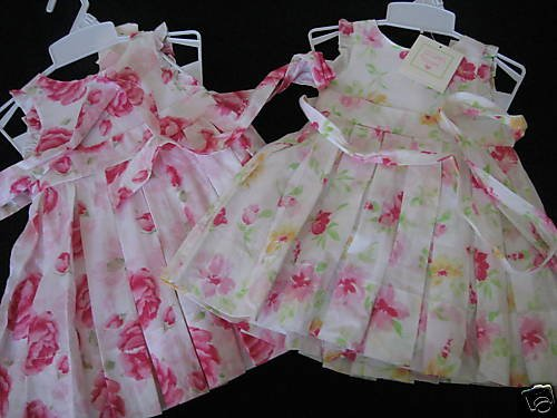 NWT JILLIANS CLOSET TWINS DRESS LOT PLEATED TULLE 18MO