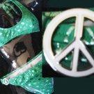 NEW VICTORIA SECRET PEACE OUT HEARTS PADDED BIKINI L