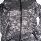 NEW COLDWATER CREEK CRINKLE METALLIC STRIPE JACKET L