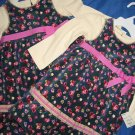 NWT TWINS GIRLS HOLIDAY VELOUR BLUE DRESS SET LOT 18 MO