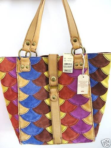LUCKY BRAND 1968 PURSE BAG PATCHWORK TOTE SATCHEL  NWT