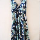 NWT MOD SATIN PADDED HALTER SEXY DRESS EMPIRE TIE S
