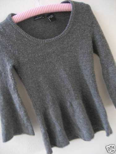 NEW VICTORIA SECRET WOOL BABYDOLL SWEATER FITTED  S