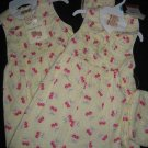 NWT YELLOW SPRING EASTER DRESS CHERRIES PURSE LOT TWINS