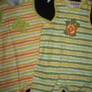 NWT TWINS GIRLS BOYS 24MO TURTLE FROG ROMPER SET OUTFIT