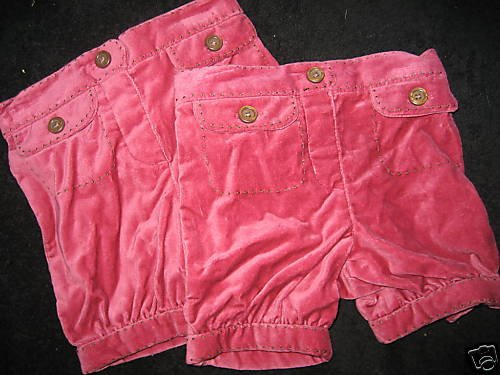 NWT LOT TWINS OLD NAVY PINK BUBBLE SHORTS 12 18 MO