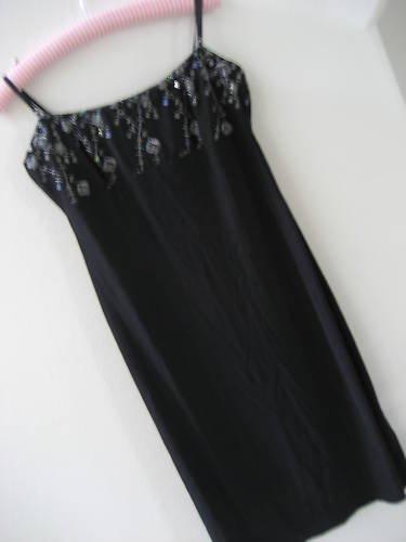 CITY TRIANGLES BLACK FORMAL DRESS PADDED BRA SEQUIN  M