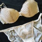 NWT VICTORIA SECRET SEQUIN  BRA STRING BIKINI LOT 36C