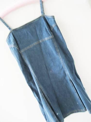OLD NAVY STRETCH DENIM FLIRTY SEXY FLOUNCE DRESS 6