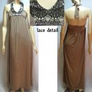 NEW Arden B. SeXy HALTER LACE MAXI LONG DRESS GOWN