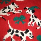 UGLY CHRISTMAS  SANTA DALMATIONS DOGS SWEATER RED M