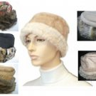 PARKHURST FAUX FUR SHEARLING SUEDE SHERPA WINTER HAT