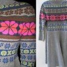 NeW VICTORIA SECRET Lambswool FAIR ISLE SWEATER DRESS