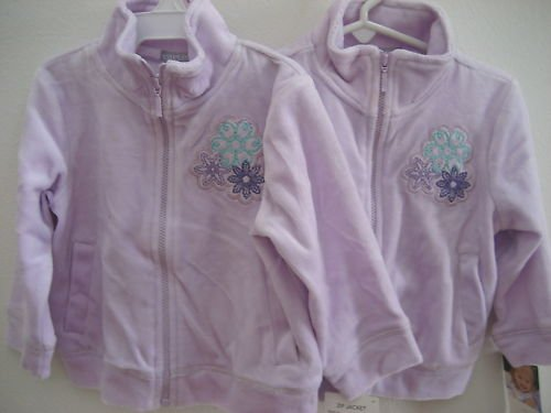 NWT CARTERS HOODED JACKET VELOUR COAT LOT TWINS 2T