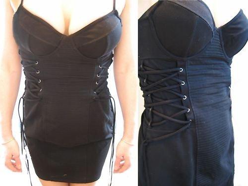 VICTORIA SECRET LACE UP CORSET BRA TOP LINGERIE DRESS