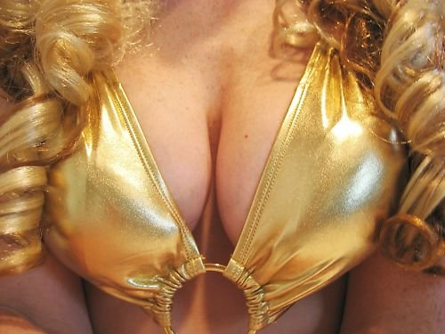 NEW  FOIL METALLIC GOLD SILVER O-RING  SCRUNCH BUTT cheeky MONOKINI SWIMSUIT