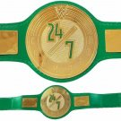 WWE 24/7 Wrestling Championship Belts Leather Replica Thick Metal Plates Adults