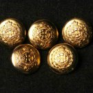 Five Oleg Cassini Women's Blazer Buttons Gold Brass Shank