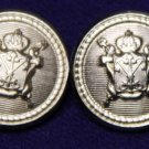 Two Men's Wexford Blazer Buttons Silver Crown Shield