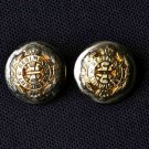 Two Mens Blazer Buttons Gold & Silver Regiment Shank Replacement