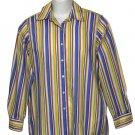 Women's Foxcroft Shirt Blouse Wrinkle Free Striped Size 6