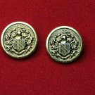 Two Canterbury Blazer Buttons Replacement Knight Shield Gold Shank Men's