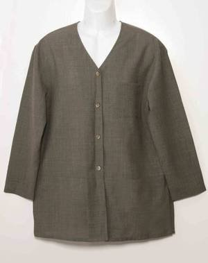 Womens J. Jill Brown Wool Shirt Brown Size 12 Tall