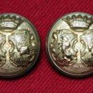 Two Mens Newton Mearns Blazer Jacket Buttons Brass Shank Gold Men's