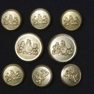 Stafford by Waterbury Blazer Buttons Set Gold Brass S Monogram Shank Men's