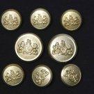Waterbury Blazer Buttons Set Gold Brass S Monogram