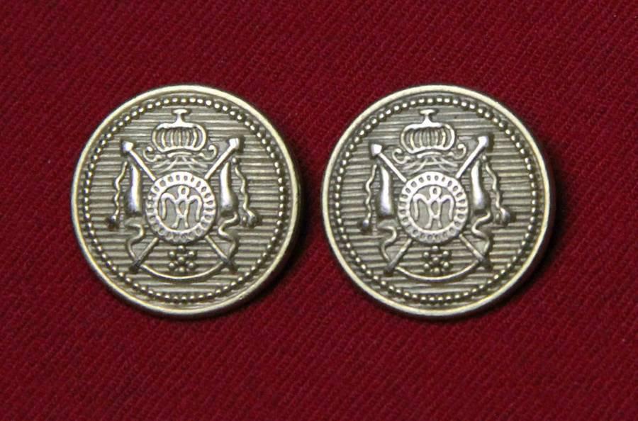 Two Men's Hebrides Blazer Jacket Buttons Brass Shank Gold