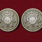 Two Men's Hebrides Blazer Jacket Buttons Brass Shank