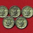 Five James Pringle Scotland Sweater Buttons Metal Shank