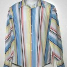 Men's Ben Sherman Multi-Color Stripe Shirt Size Large
