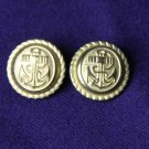 Two Tremont Blazer Buttons Set Nautical Anchor Gold Shank Men's