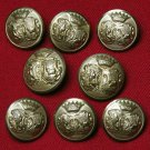 Vintage Augsburg Blazer Buttons Set Brass Shank Gold Men's