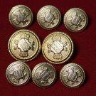 Wandsworth Blazer Buttons Set Replacement Gold Brass Men's