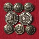 Vintage Lord Provost Blazer Buttons Set Brass Shank Antique Gold Brass Men's