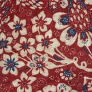 Ralph Lauren Queen Bedskirt Villa Martine Red Floral Size