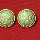 Two Scottish Highland Blazer Buttons Gold Shank Replacement
