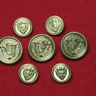 Men's Monument Blazer Buttons Set Replacement Shank Gold Brass
