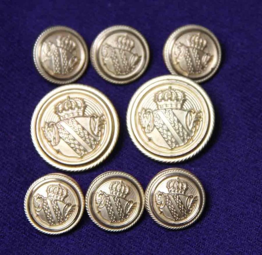 Mens Lord Provost Blazer Buttons Set Brass Shank