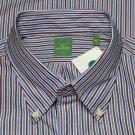 Sid Mashburn Dress Shirt Striped Men's Size XL 17.5 X 37