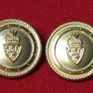 Two Mens Waterbury Blazer Buttons Set Crown and Shield