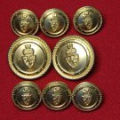 Mens Waterbury Blazer Buttons Set Crown and Shield Shank
