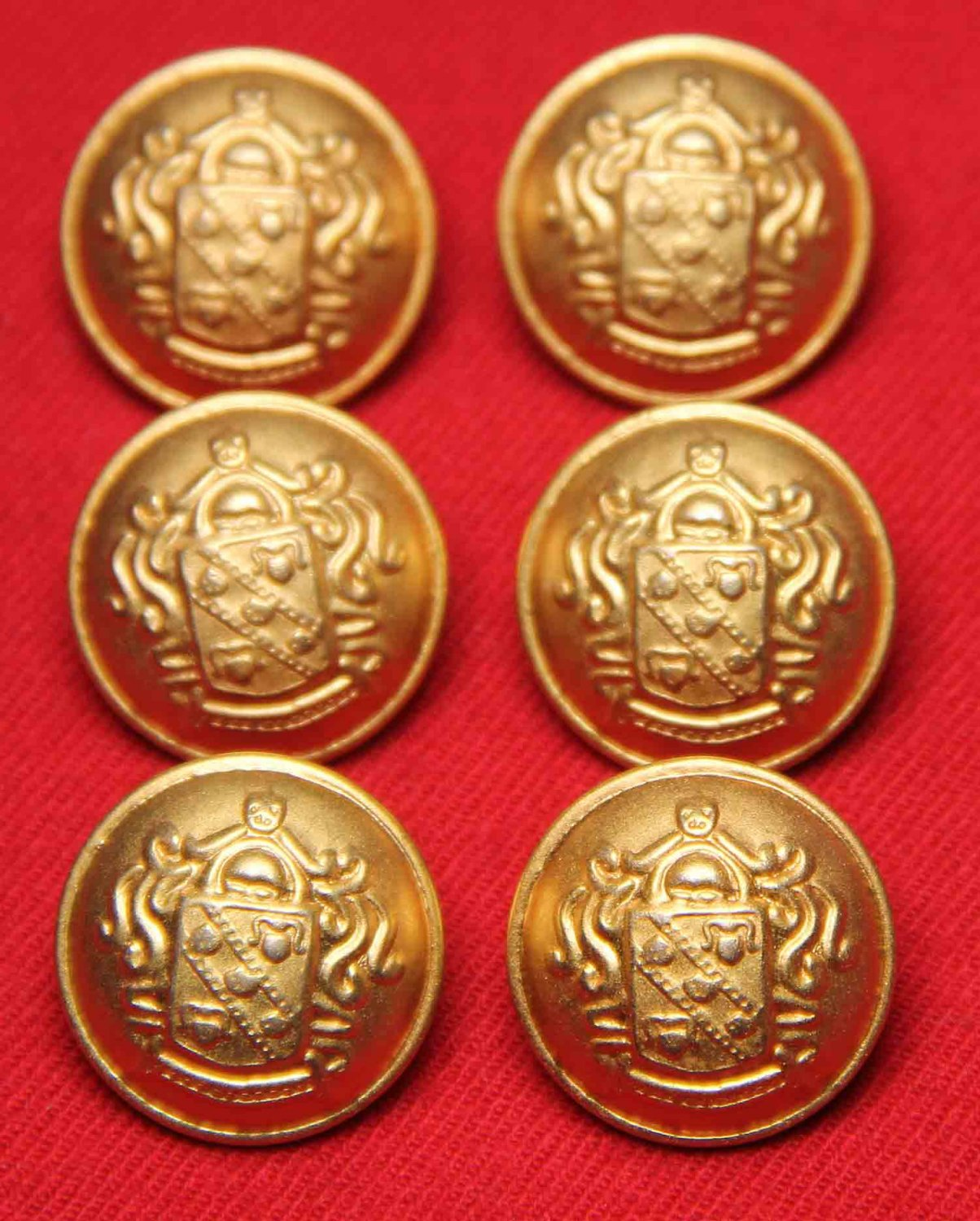 Forecaster Coat or Jacket Buttons Gold Brass Shank Style