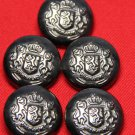 Five Forecaster Coat or Jacket Buttons Shank Style Gray Metal