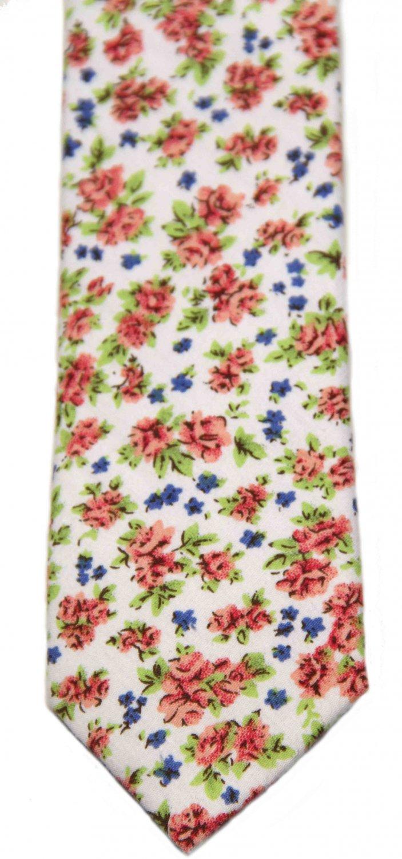 Floral Cotton Tie Men's Multi-color Men's Cedar Wood State